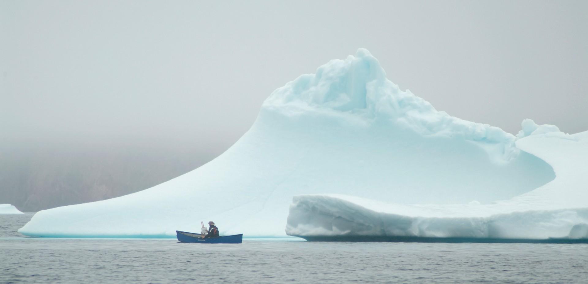 Trepanier,ITA-II,-Painting-Iceberg-from-Canoe