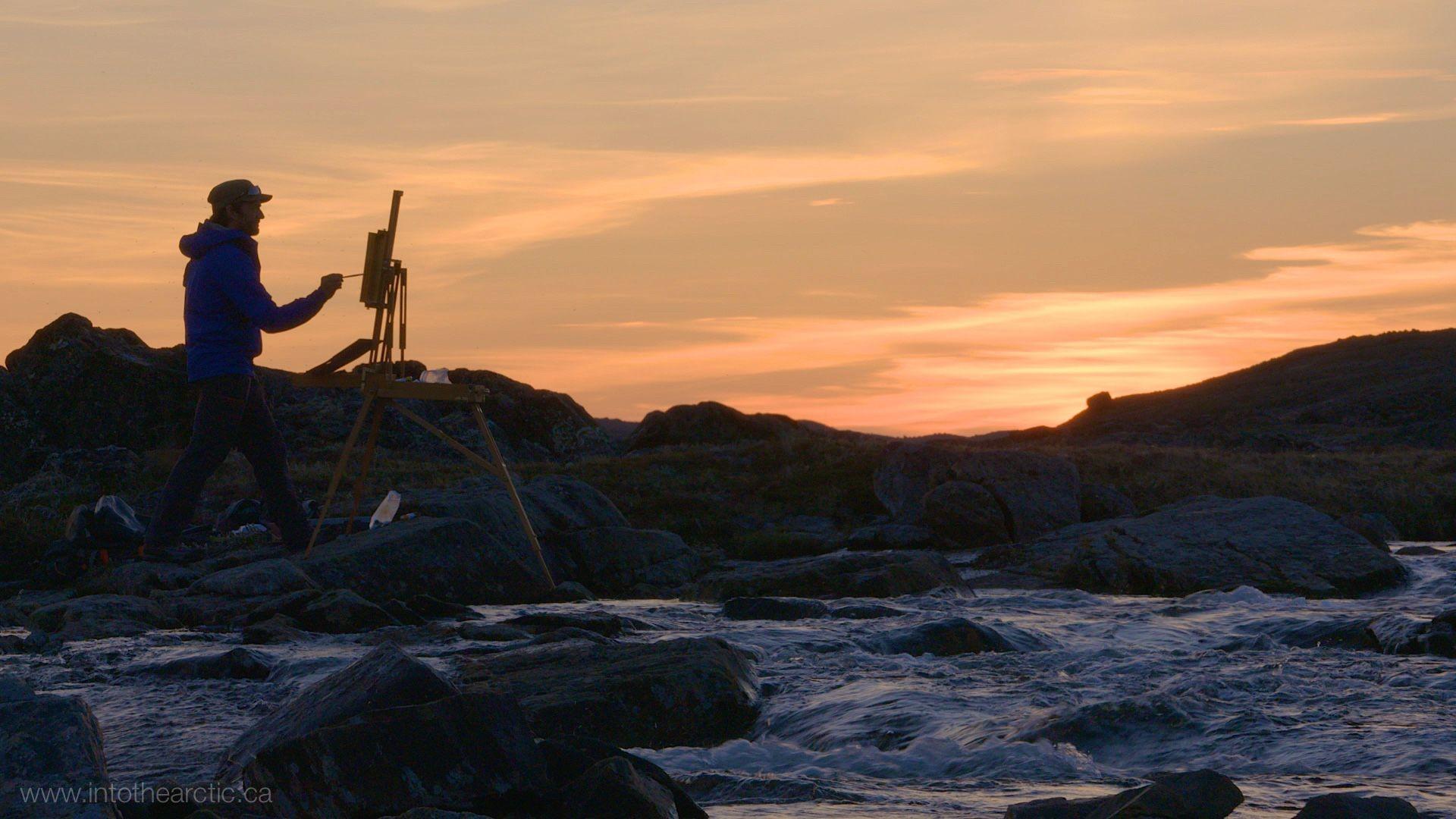 IntoTheArctic2015,209,Painting Behind Iqaluit 02