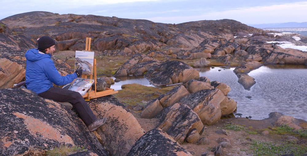 Iqaluit,-kayaking,-painting